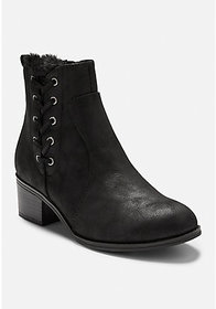 Justice Side Lace Faux Fur Boots