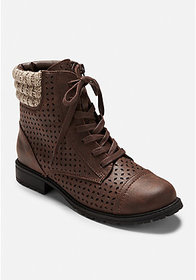 Justice Sweater Knit Perforated Hiking Boots