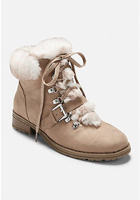 Justice Faux Fur Hiking Boots