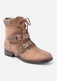 Justice Moto Lace Up Boot