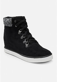 Justice Sweater Knit High Top Sneakers