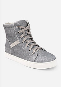 Justice Glitter High Top Sneaker