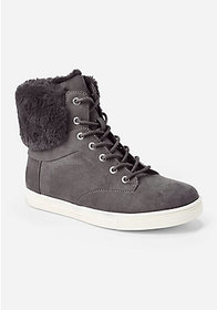 Justice Fur Back High Top Sneakers