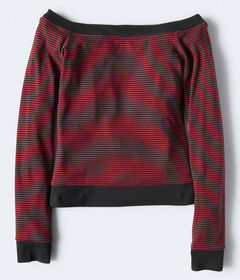 Aeropostale Long Sleeve Seriously Soft Striped Off