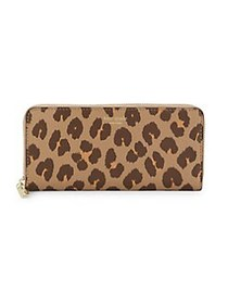 Kate Spade New York Animal-Print Leather Continent