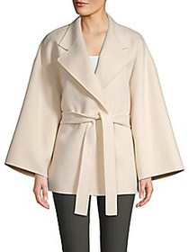 Theory Wool and Cashmere Wrap Jacket BUTTERCREAM