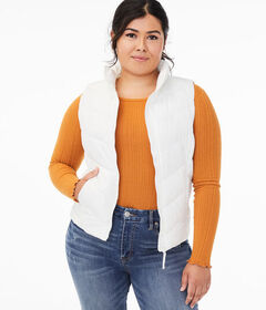 Aeropostale Chevron Quilted Puffer Vest