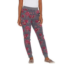 """""""As Is"""" Denim & Co. Active Regular Floral French T"""