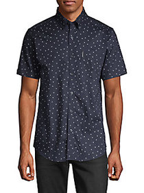 Ben Sherman Dot-Print Short-Sleeve Shirt DARK NAVY