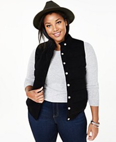 Plus Size Cashmere Vest, Created for Macy's