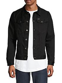 G-Star RAW Cropped Denim Jacket BLACK
