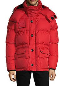 Moncler Down-Filled Quilted Jacket RED
