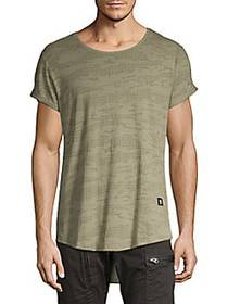 G-Star RAW Textured High-Low Cotton Tee SHAMROCK