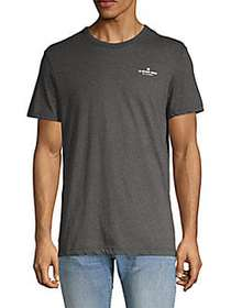 G-Star RAW Logo Cotton-Blend Tee BLACK HEATHER