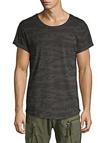 G-Star RAW Printed Cotton Tee RAVEN DARK BLACK