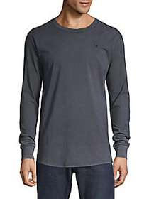 G-Star RAW Long-Sleeve Cotton Tee BLACK