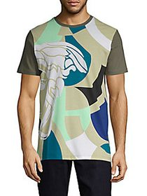 Versace Collection Multicolor Abstract-Print Cotto