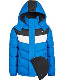 Toddler Boys 2-Pc. Colorblocked Puffer Jacket & Ha