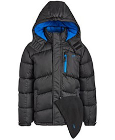 Toddler Boys 2-Pc. Puffer Jacket & Hat Set