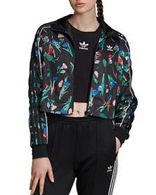 Adidas - Floral Cropped Track Jacket