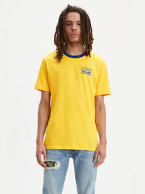Levi's Bound Neck Chest Graphic Tee Shirt