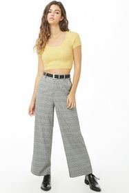 Forever21 Fuzzy Knit Cropped Top