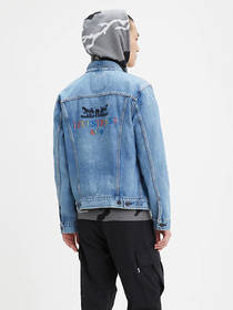 Levi's Embroidered Back Trucker Jacket