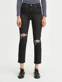 Levi's 724 High Rise Straight Crop Ripped Women's