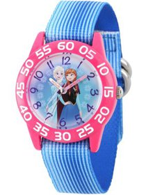 Frozen Elsa and Anna Girls' Pink Plastic Time Teac
