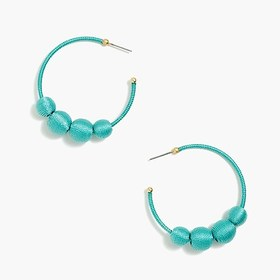 J. Crew Factory Orb hoop earrings