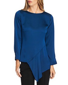 VINCE CAMUTO - Hammered Satin Blouse - 100% Exclus
