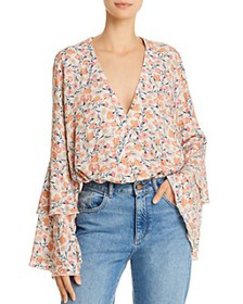 Free People - She's Dainty Floral-Print Bodysuit