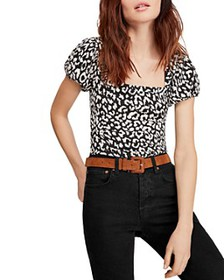 Free People - No Type Leopard Print Top