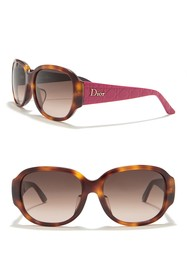 Dior Lady in Dior 55mm Square Sunglasses