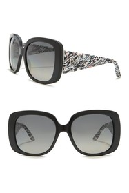 Dior Lady Lady 1 56mm Oversized Square Sunglasses