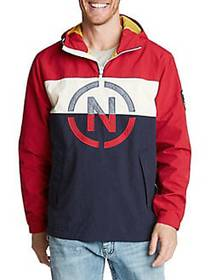 Nautica Hooded Pullover Jacket NAUTICAL RED