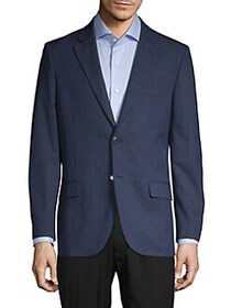 Nautica Modern-Fit Plaid Suit Separate Jacket NAVY