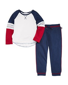 Splendid - Boys' Piped Tee & Jogger Pants Set - Li