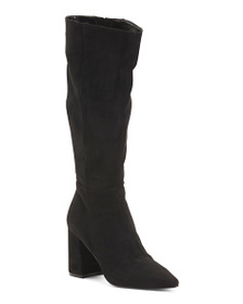 CHARLES BY CHARLES DAVID Knee High Block Heel Poin