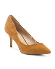CHARLES BY CHARLES DAVID Pointy Toe Suede Pumps