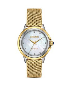 Citizen - Ceci Diamond Mother-of-Pearl Dial Watch,