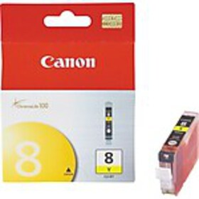 Canon CLI 8 Yellow Ink Cartridge, Standard (0623B0