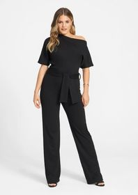 Tall Short Sleeve Off The Shoulder Jumpsuit