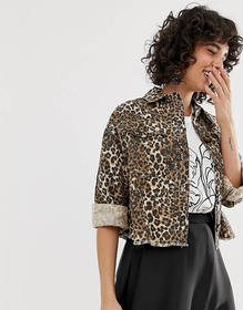 River Island shacket in leopard print