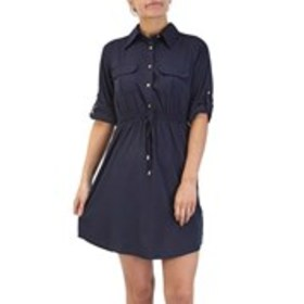 SPEED CONTROL Button Up Dress with Front Pockets