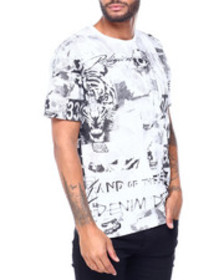 True Religion ss collage all over print tee