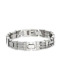 Lord & Taylor Stainless Steel Link Bracelet SILVER