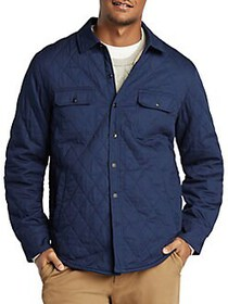 Nautica Quilted Cotton Shirt Jacket NAVY