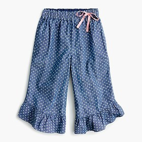 J. Crew Girls' pull-on pant in chambray stars