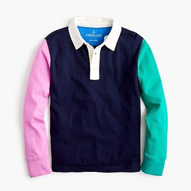 J. Crew Kids' colorblock rugby shirt